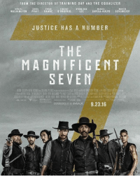 Watching this kickass movie: FROM THE DIRECTOR OF TRAINING DAY AND THE E QUALIZER  MARTIN  VINCENT  ETHAN  DENZEL  CHRIS  BYUNG-HUN  MANUEL  WASHINGTON  PRATT  HAWKE  DONOFRIO  LEE  GARCIA-RULFO  SENSMEIER  JUSTICE HAS A NUMBER  THE  MAGNIFICENT  SEVEN  EXPERIENCE  IT IN  IMAX 9.23.16 Watching this kickass movie