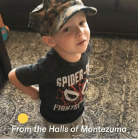 Life, Memes, and Marines: From the Halls of Montezuma. This is what happens when a Marine sings the Marines' Hymn to his 3-year-old son every night. SEMPER FIDELIS is more than a motto is a way of life.