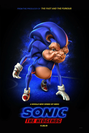 Hedgehog, Sonic, and The Shadow: FROM THE PRODUCER OF THE FAST AND THE FURIOUS  A WHOLE NEW SPEED OF HERO  THE HEDGEHOG  11.08.19 Sonic, Behind the Shadow.
