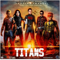 Future, Imax, and Memes: FROM THE STUDIO THAT BROUGHT YOU  J U S T  A G  DON'T CALL THEM SIDE KICKS  TITANS  TTTAMD  DDOTARTWORK  SEE IT IN REAL D 3D AND IMAX 3D  I LIAMJ ( READ CAPTION ) TITANS Who wants a TeenTitans - YoungJustice Movie in The DCEU !? 😱 Shoutout to The Talented Artist @ddotartwork's for making my 'TITANS' FanCast's come True with DylanMinnette as Robin ( TimDrake), DylanSprayberry as SuperBoy ( ConnorKent), NaomiScott as WonderGirl ( DonnaTroy), ThomasSangster as KidFlash ( WallyWest) and JessieUsher as AquaLad ( KaldurAhm) ! 😍👏🏽 I Hope DC Introduces The JusticeLeague's SideKicks in the JL's Solo Films or Sequels which could Lead to a Spinoff 'TITANS' Film, maybe RayFisher's Cyborg could even Leave the League in the Future and Join a New Team of Young Heroes ! Comment Below your Thoughts…But Honestly if DC Doesn't use their Young SideKicks in the Movies…that's wasted Potential ! DCExtendedUniverse 💥