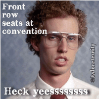 Front  seats at  convention  Heck veessssssss Jehovah Witnesses can meme too