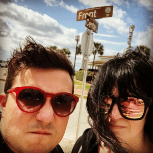 Instagram, Tumblr, and Blog: Front  St postmcrnews:frankieromustdie: me and the mrs. mean mugging out on front street. 🖤 #OnTheCornerOfFrontAndCentre #wierdlips2019