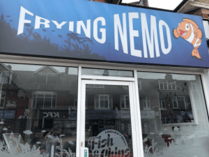This chip shop has no chill: FRYING NEMO This chip shop has no chill