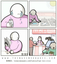 "(artist: @thingsinsquarescomics) ""over one billion saddened"": FRYM  SO TASTY  W W W. THINGSINS O U ARES. CO M  BONUS: THINGSINSOUARES.COM/cOMICS/SAD-THIS-STICK (artist: @thingsinsquarescomics) ""over one billion saddened"""
