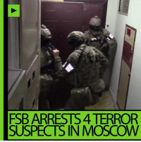 ISIS terrorist attacks thwarted in Moscow, 4 arrested – FSB DETAILS: http://on.rt.com/7xs6: FSB ARRESTS 4TERROR  SUSPECTS IN MOSCOW ISIS terrorist attacks thwarted in Moscow, 4 arrested – FSB DETAILS: http://on.rt.com/7xs6