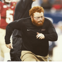 "Blessed, Head, and Sports: FSU FSU ball boy @frankiekw a.k.a. ""Big Red"" is headed to the pros-he's joining the @atlantafalcons Blessed 🏈"