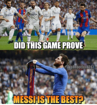 Decide below 👇🏼 Follow the best account on Instagram @memesarena: Fty  Emiran  Ily  mirate  AK  /y  19  DIDTHIS GAME PROVE  TrollFootball247  MESSIIS THE BEST? Decide below 👇🏼 Follow the best account on Instagram @memesarena