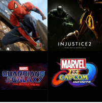 """Lawyer, Memes, and Spider: FUARDIANS  THE TELL TALE  SERIES  INJUSTICE 2  EVERY BATTLE DEFINES YOU  MARVEL  CAPC COMM  INFINITE Sooooo.... Ummm since some people are doing this """"My most anticipated movies of 2017"""" I'll do my list but with the superhero video games.... Because I'm fucking bored.... . . 1. Spider-Man PS4 (not confirmed for 2017 yet, but whatever) 2. Insomniac's Spider-Man 3. Guardians of the Galaxy: The Telltale Series 4. Injustice 2 Is one missing? No? Good. Soooo.... What's yours? - The Blind Lawyer Insomniac's Spider-Man = Spider-Man PS4 confirmed :0 No, seriously, I fucking know they're the same, so stop fucking commenting it..."""