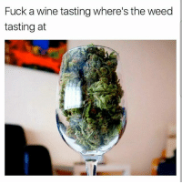 Memes, Weed, and Wine: Fuck a wine tasting where's the weed  tasting at