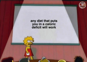 Work, Fuck, and Diet: FUCK  CARDIO  any diet that puts  you in a caloric  deficit will work 👀 Via @fuck_cardio