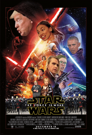 "Thanks, I hate the new Progressive Wars: FUCK  THE SI  is  Real  STARN  WARS  WHITE  SUPREMACY  ROR  SUPREMAC  THE FORCE IS W OKE  u  ACAB  ACAB  A LUCASFLM LTO, PRODUCTON A BAD ROBOT PRODUCTION ""STAR WARS: THE FORCE AWAKENS"" HARRISON FORD MARK HAMILL CARRIE FISHER ADAM DRIVER  DAISY RIDLEY JOHN BOYEGA OSCAR ISAAC LUPITA NYONGO ANDY SERKIS DOMHNALL GLEESON ANTHONY DANIELS PETER MAYHEW AND MAX VON SYDDW ""F JOHN WILLIAMS  NOUSTRIAL LIGHT & MAGIC REMICHAEL KAPLAN EmeMARY JO MARKEY ACE MARYANN BRANDON, ACE ""E RICK CARTER AMO DARREN GILFORD DAN MINDEL AS, SC  HLAWRENCE KASDAN & J.J. ABRAMS AND MICHAEL ARNOT JJ. ABRAMS  JUCASFILM  MUSIC  PRODUCTION  ANIMATION BY  EXECUTIVE  DESIGNER  EOITORS  PHOTOGRAPHY  TOMMY HARPER JASON MEGATLIM EKATALEN KENNEDY pga. J.J. ABRAMS, pga. BRYAN BURK, pga.  WRITTEN 