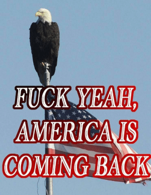 Fuck Yeah!: FUCK YEAH  AMERICA IS  COMING BACK Fuck Yeah!