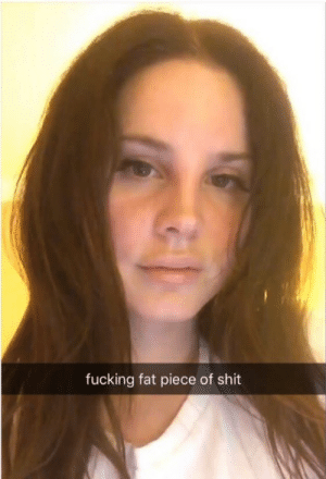 Fucking, Life, and Omg: fucking fat piece of shit wastedawayagaininmargaritaville:  OMG!!!! Boycott Lust for Life! Look at what Lana snapped me :(