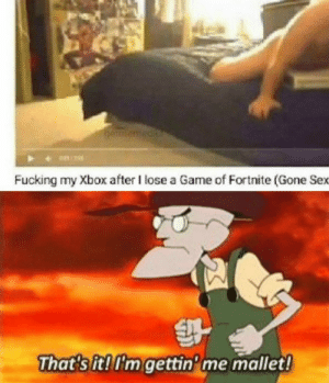 Fucking, Sex, and Xbox: Fucking my Xbox after I lose a Game of Fortnite (Gone Sex  That sit!im gettin'me mallet Excuse me what the fuck