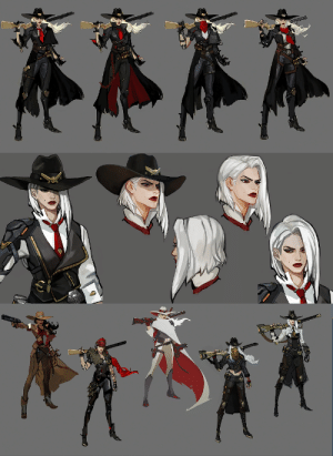 Tumblr, Blog, and Http: fuckyeahoverwatch:  Ashe Concept Art - Blizzcon 2018