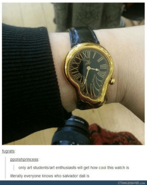 So Only the art people will get this !!: fugrats  ppolishprincess:  only art students/art enthusiasts will get how cool this watch is  literally everyone knows who salvador dali is  STRANGEBEAVER.con So Only the art people will get this !!