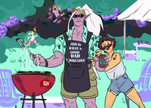 fujifingerz:  Grill Dad Huntara. Noelle did it on a stream. : fujifingerz:  Grill Dad Huntara. Noelle did it on a stream.