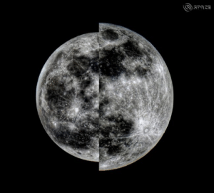 Full moons at apogee (left) and perigee (right) in 2011. Composite image by EarthSky community member C.B. Devgun in India.: Full moons at apogee (left) and perigee (right) in 2011. Composite image by EarthSky community member C.B. Devgun in India.