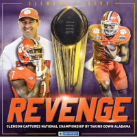 Clemson has done it.: FULLER  CLEMSON CAPTURES NATIONAL CHAMPIONSHIP BY TAKING DOWN ALABAMA  O CBS SPORTS Clemson has done it.
