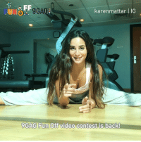 9gag, Funny, and Gym: FUN  9GA  karenmattar | IG  9GAG Fun Off video contest is back! 📣Calling all gym rats🏋🏻‍♀️: Send your funny fitness videos to @funoff's Link In Bio for a chance to be featured and to win $10,000 U.S. Dollars! 💰 - Thanks @karenmattar for the 9GAGFunOff shoutout video!