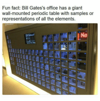 Damn that's cool af @heated @heated . heated yyc germany la wetterwithyou ;): Fun fact: Bill Gates's office has a giant  wall-mounted periodic table with samples or  representations of all the elements.  @heated Damn that's cool af @heated @heated . heated yyc germany la wetterwithyou ;)