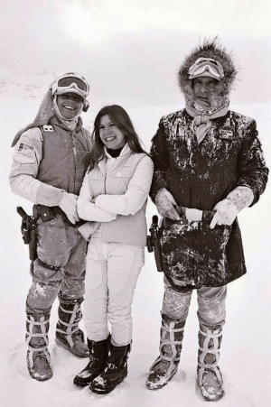 Fun fact. When filming scenes on Hoth, Carrie Fisher donated all of her cocaine as an alternative to environmental fake snow. This saved the studio thousands of dollars.: Fun fact. When filming scenes on Hoth, Carrie Fisher donated all of her cocaine as an alternative to environmental fake snow. This saved the studio thousands of dollars.