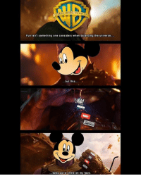Memes, Smile, and 🤖: Fun isn't something one considers when balancing the universe  but this.  ...does put a smile on my face Mine too, Mickey. Mine too. MarvelousJokes