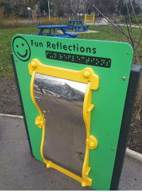 Fun, Braille, and Useless: Fun Reflections Most useless braille Ive ever seen
