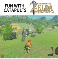 TRY THIS IF YOU HAVEN'T YET: FUN WITH  CATAPULT  THE LEGEND OF  BREATH HEWILD TRY THIS IF YOU HAVEN'T YET