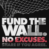 No more chain-link fences. No more excuses.  Tell Congress: Fund The Wall.  Email your Congressman and Senators by clicking here: https://p2a.co/LKWmeBz: FUND THE  NO EXCUSES.  SHARE IF YOU AGREE. No more chain-link fences. No more excuses.  Tell Congress: Fund The Wall.  Email your Congressman and Senators by clicking here: https://p2a.co/LKWmeBz