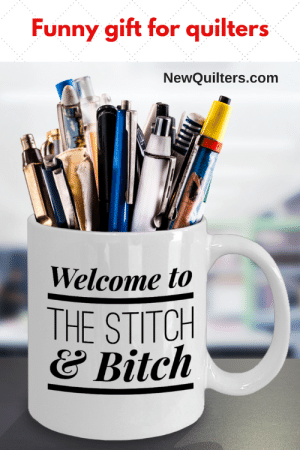 Funny Quilting mug - 15OZ Coffee cup - Welcome to the Stitch & Bitch  - Perfect gift for her - birthday, women, sister, wife, mother,  grandmother. #giftsforquilters, #quiltinggift, #quiltingfunny: Funny gift for quilters  NewQuilters.com  Welcome to  THE STITCH  どBitch Funny Quilting mug - 15OZ Coffee cup - Welcome to the Stitch & Bitch  - Perfect gift for her - birthday, women, sister, wife, mother,  grandmother. #giftsforquilters, #quiltinggift, #quiltingfunny