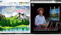 funny I was bored during class and painted along with Bob Ross using MS paint.: funny I was bored during class and painted along with Bob Ross using MS paint.