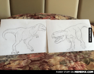 When booking online he asked for two hand drawn pictures of a T. rex by each bed, they delivered.omg-humor.tumblr.com: FUNNY STUFF ON MEMEPIX.COM  MEMEPIX.COM When booking online he asked for two hand drawn pictures of a T. rex by each bed, they delivered.omg-humor.tumblr.com