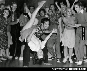 Young couple swing dancing in the 1940s.omg-humor.tumblr.com: FUNNY STUFF ON MEMEPIX.COM  MEMEPIX.COM Young couple swing dancing in the 1940s.omg-humor.tumblr.com