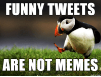 Funny, Memes, and Imgur: FUNNY TWEETS  ARE NOT MEMES  on imgur You insult our heritage