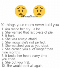 25+ Best Things Your Mom Never Told You Memes | Crying a Lot