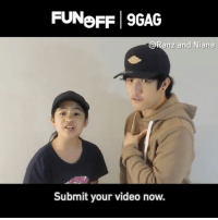 Cool 9GAG Fun Off shout out from the sweet siblings @ranzandniana! Submit your funny videos to the link in bio to win $100,000 USD! 9GAGFunOff 9GAG: FUNoFF 9GAG  @Ranz and Niana  Submit your video now. Cool 9GAG Fun Off shout out from the sweet siblings @ranzandniana! Submit your funny videos to the link in bio to win $100,000 USD! 9GAGFunOff 9GAG
