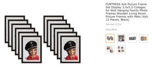 Nice hat, kid: FUNTRESS 4x6 Picture Frame  Set Display 3.5x5.5 Collages  for Wall Hanging Family Photo  Frames Wooden Living Room  Picture Frames with Mats (4x6  12 Pieces, Black)  Size:4x6 12 Pcs  Color:Black  46 12 Pack  46 12 Pack Nice hat, kid