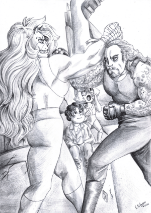 furiarossa: Being a content creator means you can draw whatever crazy crossover you like and it would never exist otherwise… like this one, Jasper from Steven Universe and Undertaker from WWE. Raaah, fight! Drawn with black ballpoint pen. (Should we color this one?) ★ |Patreon|Facebook|FurAffinity|Deviantart|RedBubble shop|Tapastic★ : furiarossa: Being a content creator means you can draw whatever crazy crossover you like and it would never exist otherwise… like this one, Jasper from Steven Universe and Undertaker from WWE. Raaah, fight! Drawn with black ballpoint pen. (Should we color this one?) ★ |Patreon|Facebook|FurAffinity|Deviantart|RedBubble shop|Tapastic★