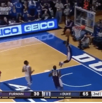 Fail, Memes, and Duke: FURMAN 30  4 DUKE  65  2nd Tag someone that'd do this😂😩 Fail Comment how tall you are! 👇 - Follow @Sportzmixes for more! 🏀 - @ballcrosses
