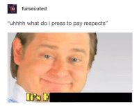 """MeIRL, What, and Press: fursecuted  """"uhhhh what do i press to pay respects"""" meirl"""