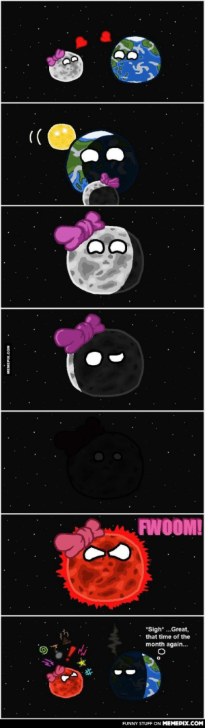 Blood moonomg-humor.tumblr.com: FWOOM!  *Sigh*...Great,  that time of the  month again...  FUNNY STUFF ON MEMEPIX.COM  MEMEPIX.COM Blood moonomg-humor.tumblr.com