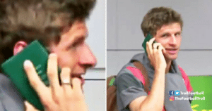 Throwback to when Thomas Müller used his passport as his mobile. https://t.co/7n79IzLRIC: fy TrollFootball  O TheFootballTroll Throwback to when Thomas Müller used his passport as his mobile. https://t.co/7n79IzLRIC