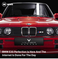 Bmw, Cars, and Internet: G A R A G E  BMW E30 Perfection Is Here And The  Internet Is Done For The Day This heavily modified E30 M3 from Bulgarian wizards Vilner hits the jackpot for style, muscularity, grace, aggression, colour and purpose