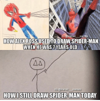 - The Blind Lawyer captainamericacivilwar captainamerica civilwar blackpanther blackwidow falcon spiderman spidermanhomecoming vision antman wasp wintersoldier scarletwitch quicksilver hawkeye hulk thor thorragnarok gotg guardiansofthegalaxy doctorstrange avengers avengersinfinitywar marvelmovies makespidermangreatagain spidermanps4: G. arvel  memes  HOWALE) ROSS USED TO DRAW SPIDER MAN  WHEN HE WAS  YEARS OLD  AAT)  IG marvel  memes  HOW I STILL DRAW SPIDER-MAN TODAY - The Blind Lawyer captainamericacivilwar captainamerica civilwar blackpanther blackwidow falcon spiderman spidermanhomecoming vision antman wasp wintersoldier scarletwitch quicksilver hawkeye hulk thor thorragnarok gotg guardiansofthegalaxy doctorstrange avengers avengersinfinitywar marvelmovies makespidermangreatagain spidermanps4