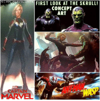 🚨 MCU CONCEPT ART ! First Look at AntManAndTheWasp and CaptainMarvel Straight out of the Marvel Panel at SDCC ! 😱 The Skrull are coming MarvelCinematicUniverse 💥 SDCC2017 SanDiegoComicCon SDCC17 ComicCon: G eDc MAR  IG @DC  RVEL.UNITE  VELONEFIRST LOOK AT THE SKRULL!  CONCEPT  ART  l/  MARVEL STUDIO  CAPTAIN  MARVEL 🚨 MCU CONCEPT ART ! First Look at AntManAndTheWasp and CaptainMarvel Straight out of the Marvel Panel at SDCC ! 😱 The Skrull are coming MarvelCinematicUniverse 💥 SDCC2017 SanDiegoComicCon SDCC17 ComicCon