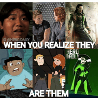 Disney, Kim Possible, and Memes: G @HERO.DAILY  WHEN YOU REALIZE THE  HERD  DAIL  ARETHEM Marvel Loki has been giving us a remake of Kim Possible this whole time 😂 marvel mcu marvelcomics marvelcinematicuniverse spidermanhomecoming avengers sdcc spiderman hawkeye blackwidow loki memes comicbooks comicbook comicbookmemes kimpossible disney