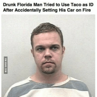 drunk guy: Drunk Florida Man Tried to Use Taco as ID  After Accidentally Setting His Car on Fire