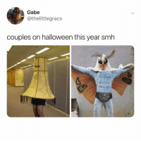 Halloween, Memes, and Smh: Gabe  @thelittlegracs  couples on halloween this year smh @donny.drama can we dress up like this!? 😂😂