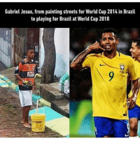 Jesus, Memes, and Streets: Gabriel Jesus, from painting streets for World Cup 2014 in Brazil  to playing for Bail a World Cup 2018 Inspirational